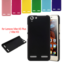 for Lenovo Vibe K 5 Hard Bag Cover Simple PP Bag Rubberized Hard Plastic Phone Case for Lenovo Vibe K5 Plus / Vibe K5 - Black