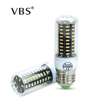 LED Bulb Real No Flicker/Strobe Smart Power IC Design LED Corn Bulb High Lumen 4014 SMD E27 E14 220V long Life LED Spot light(China)