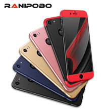 Newest Luxury 3 in 1 Armor Cases For iPhone 5 5S SE 7 7 Plus 6 6S Plus 360 Degree Full Body Protection Cover Case for iPhone
