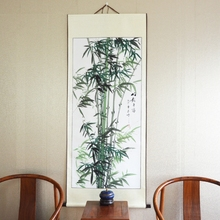 Big Scroll Painting by Numbers / Landscape Bamboo / Vintage Ink painting Japanese style / Hotel Lobby Wall Art Pictures