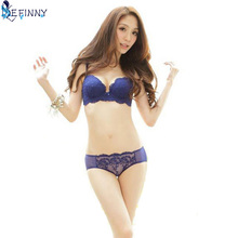 Lady Women Girls Lace Floral Satin Bra Underwear Underwire Push Up Bra Set Black Blue Red White Pink(China)