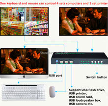 Intelligent Control By Keyboard 4096*2160 New High Quality 4K*2K KVM USB HDMI Auto Switch USB2.0 Port 4 Port KVM HDMI Switcher