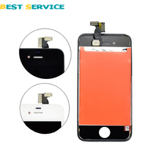 For iPhone 4 4G LCD Screen Display with Touch Screen Digitizer assembly + Tools Black White Free Shipping
