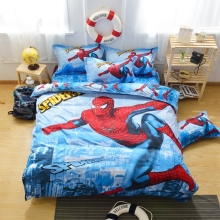 amazing spiderman boys bedding set doona/duvet cover flat sheet pillow case king queen double single size