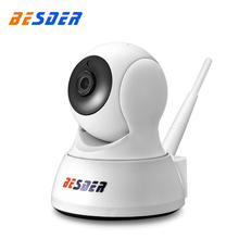 BESDER 1MP Mini Wifi CCTV Ip Camera White Color Two Way Audio 720P P/T Rotate Wireless Ip Surveillance Camera Support SD Card(China)
