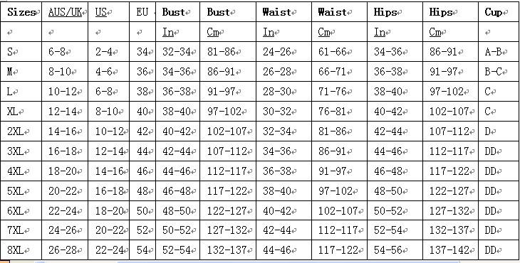 corset size