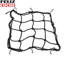 Motorcycle Bike 6 Hooks Hold down Fuel Tank Luggage Net Mesh Web Bungee Black Free Shipping  A2374
