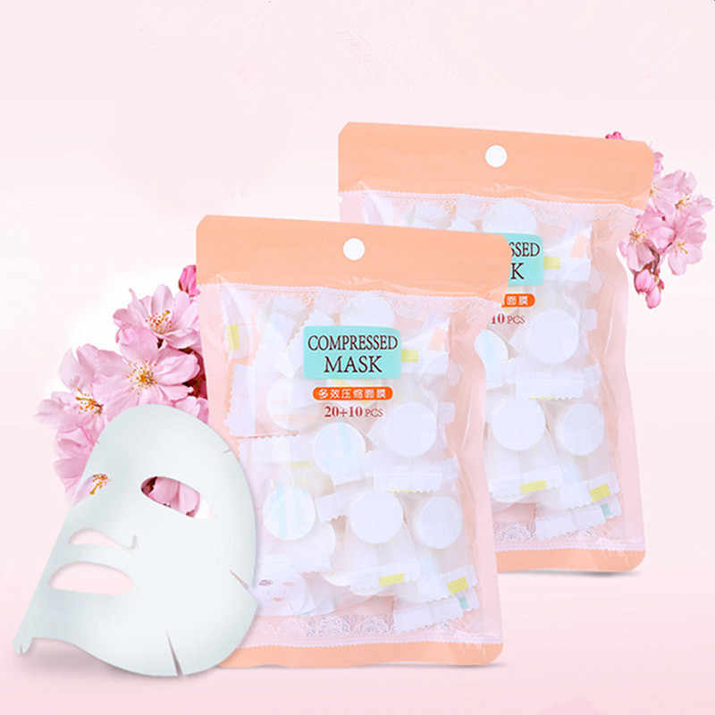 compressed disposable facial mask