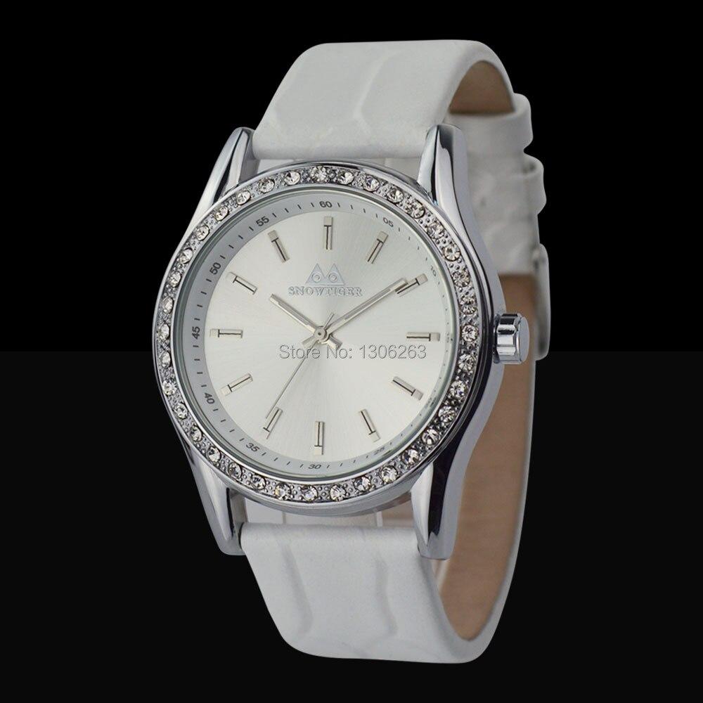 5 Colors! Women Real Leather Watches Lady Shining Dress Watch Big Diamond Stone Wristwatch Lady Genuine Leather Watch<br>