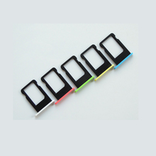 100pcs/lot Original Sim Card Holder Slot Tray for iPhone 5C Yellow Green Blue White Pink Sim Card Adapters Replacement Parts