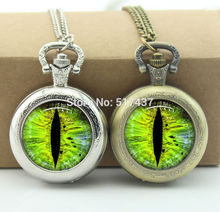 Dragons Eye Watch Necklace Floating Memory Locket necklace Antique Pocket Watch Necklace(China)