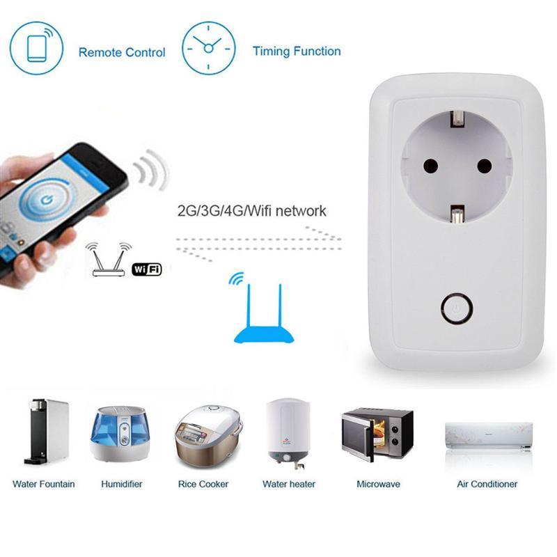 Best Promotion Wireless WiFi EU Plug Smart Remote Control RC Timer Switch Electrical Socket Plug Adapter Charger Home Automation