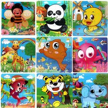 Educational wooden toys wooden animal Jigsaw puzzle funny toy puzzle wood wooden puzzles for children Puzzles Toys Drop Shipping(China)