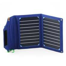 Portable 8000mAh Power Bank LED 10W Folding Foldable Solar Panel Pack Mobile Battery Charger for Cell phones Camp Outdoor Travel