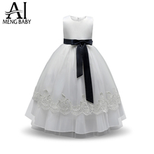 Ai Meng Baby Flower Girl Dress For Girls Weddings Princess Costume Baby Kids Clothes Girl Party Wear Children Prom Gown Designs