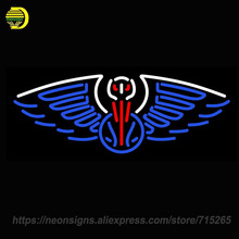 Neon Sign for Orleans Pelicans Alternate Pres Logo NBA Privateers Morgan State Bears Nccu Eagles England Patriots Jersey Devils(China)