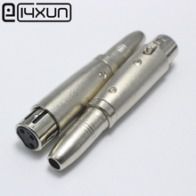 EClyxun 1Pcs Metal XLR 3 Pin Female Jack Adapter Connector to 6.5mm Female Jack Socket for Music Desk Speaker Audio Microphone(China)