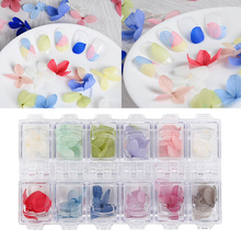 12 Colors/box 3D Manicure UV Gel Nail Art Tip Ornament Kit 12 Colors Real Dried Flower Sticker Decoration Manicure DIY Tool
