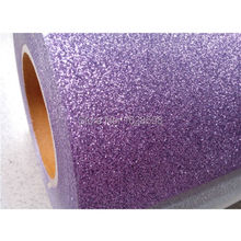 CDG-18 Lavenda color Glitter 5 yards High quality heat transfer vinyl for clothing(China)
