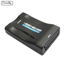 Zerosky 1080P SCART To HDMI Video Audio Upscale Converter Adapter for HD TV DVD for Sky Box STB Plug and Play