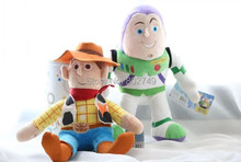 2pcs/lot Pixar Toy Story Plush Figure Woody 35cm And Buzz Lightyear Plush Doll