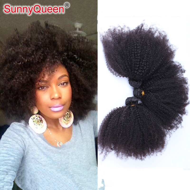Sunny Queen Hair Products 6A 3PCS Ethiopian Virgin Hair Weave Afro Kinky Curly Hair Weft Ethiopian Afro Kinky Curly Hair Bundle<br><br>Aliexpress