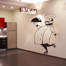 Funny Chef Wall Stickers For Kitchen Tile Glass Walls Waterproof Vinyl Sticker Home Decor Decals House DecorationGG 49
