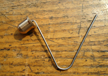 Manufacturer custom Brass Button Mounting Spring Clips for Tent Pole(China)