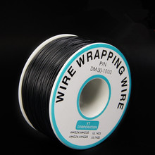 EziUsin Welding cable PCB Jumper Circuit Board 0.25mm Wire-Wrapping Electronic Wire 30AWG Cable 250m Black