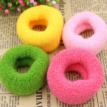 (KAKU0025)12pcs/lot Colorful Wide Women Big Hair Holders Cute Rubber Bands Hair Elastics Accessories Girl Tie Gum (Mix Color)(China)