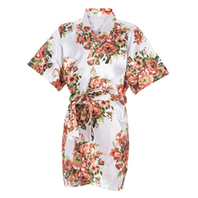 2016 Kids Prom Dresses Family Clothes Flower Gown Children NightGown Kimono Bathrobe Floral Stain Robes Party Dresses Sleepwear
