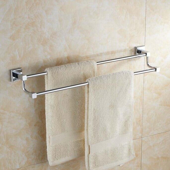Chrome Polished Brass Double Towel Bars/ Towel Shelf/ Double Towel Bar/ Rod Holder Bath Accessories<br>