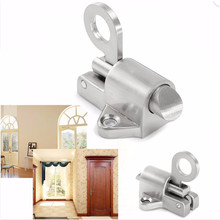 Zinc Alloy 8031 Silver Home Security Spring Slide Bolt Aluminum Window Door Latch Lock Self Closing Durable 43x43x46mm