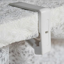 Creative Plastic 4Pcs Table Cover Cloth Stainless Steel Tablecloth Clip Clamp Holder For Wedding Prom
