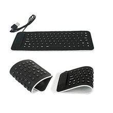 New arrival Hot Sales  Portable USB Mini Flexible Silicone PC Keyboard Foldable for Laptop Notebook WH Freeshipping & Wholesales
