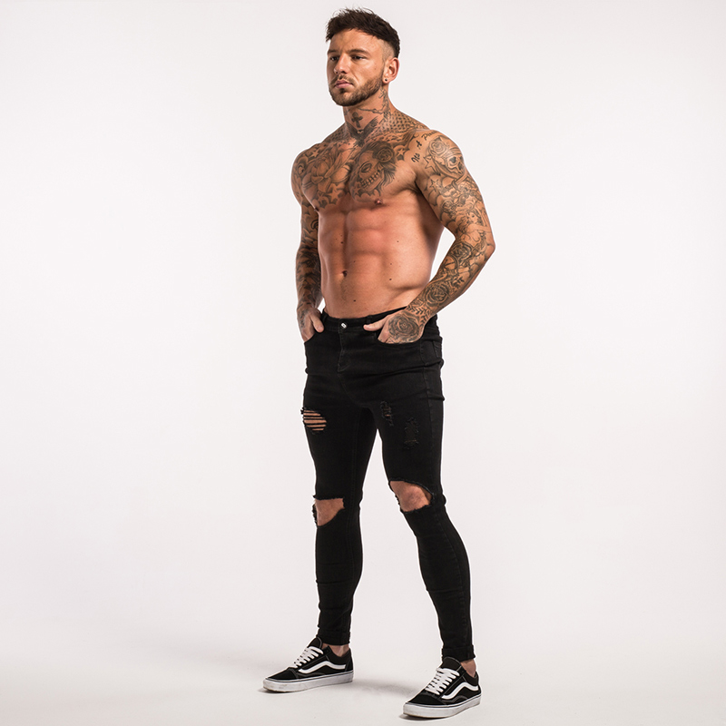 -mens-skinny-jeans-black-ripped-stretch-ripped-repaired-zm25-11