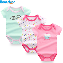 Baby Rompers Newborn Baby Boy Girls Clothes Short Sleeve Baby Clothing Girl Roupa Infantil Body Bebes Next Jumpsuit U-317(China)