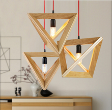 Vintage Cord Pendant lights wood socket  Retro lamp 120CM colorful wire wooden chandelier ceiling pendant lamp  For Dining Room