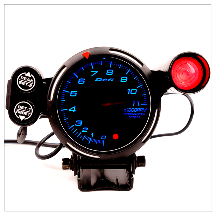 "Hot Tachometer Gauge Kit LED 3.5/"" Auto Meter with Shift Light+Stepping Motor RPM"