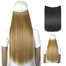 50g 20inch (50cm) mircale wire halo hair extension heat resistant B5 synthetic hair