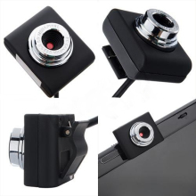 kebidumei Black Color Mini USB 2.0 30M Webcam Camera Web Cam 30 Mega Pixel Webcam Camera For Skype Computer PC Laptop