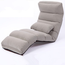 Floor Folding Chaise Lounge Chair Modern Fashion 6 Color Living Room Comfort Daybed Lazy Reclining Upholstered Sleeper Sofa Bed(China)