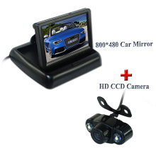 Factory Promotion For 4.3 inch Color LCD Rear Car Monitor + IR 2 LED Night Vision Car Rear View Camera + Free Shipping