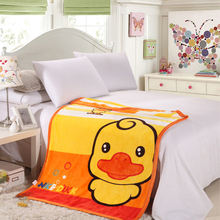 brand healthy cartoon yellow duck bear cat miky fleece baby winter thick warm blanket super soft carpet on the bed throw