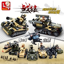 8 in1 Building Military Blocks Aircraft Carrier airplane ship Bus tank police city  Model Kids Toys Gifts Compatible with legoe