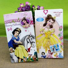 (8 pieces/lot)Free Shipping Cute Snow White Greeting Card Kid Birthday Party Invitation Card Cartoon Princess Greeting Cards(China)