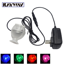 RAYWAY New Arrival Cold White / RGB Submersible Underwater Mini 1W LED Spot Light for Water Pool Fish Tank Aquarium Lamp Bulb(China)