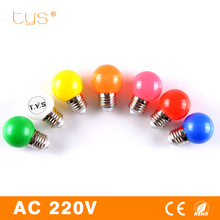 New Colorful Led Lamp E27 220V 3W Globe Light Bulb 7color Bombillas Led Bulb SMD 2835 Led Light bar Home Decor Holiday Lighting(China)