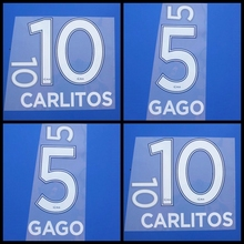 New Boca customization DIY CARLITOS GAGO football name number font print,Hot stamping Soccer patches badges(China)