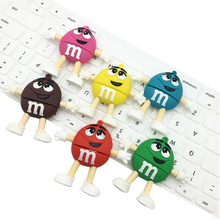 USB stick 100% U Disk Promotion price Cute Cartoon M&m's Chocolate M Bean 4gb/8gb/16gb/32gb Usb Flash Drive Pendrive 8gb 16gb